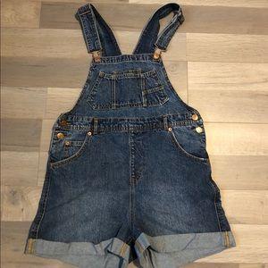 ASOS Monki Denim Overall Shorts
